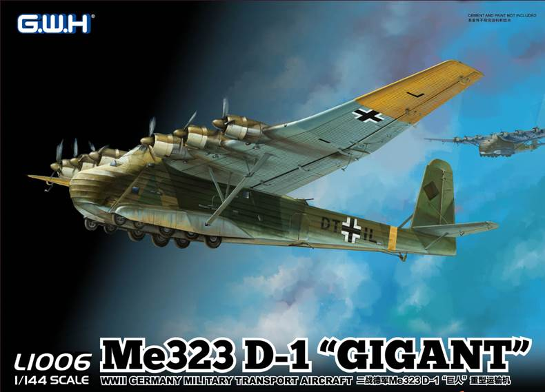 Messerschmitt Gigant in 144th scale by G.W.H dn models masks for scale models 144th