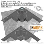 Cover B-2A Spirit Stelth Bomber Paint Masks 72nd scale (Site))