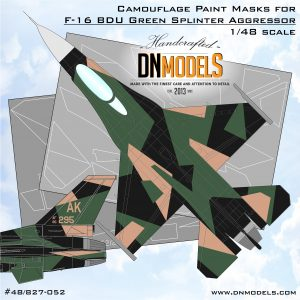 F-16c bdu green splinter aggressor dn models masks for scale models
