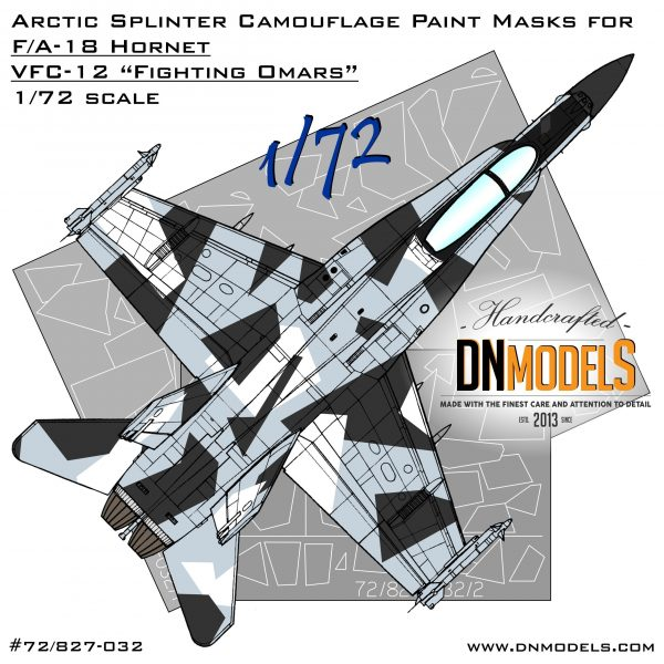 Hornet Aggressor Arctic Splinter Camo Paint Masks 1/72