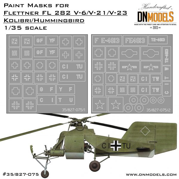 Cover Kolibri Insignia and Wheels mask set 35th scale (Site)