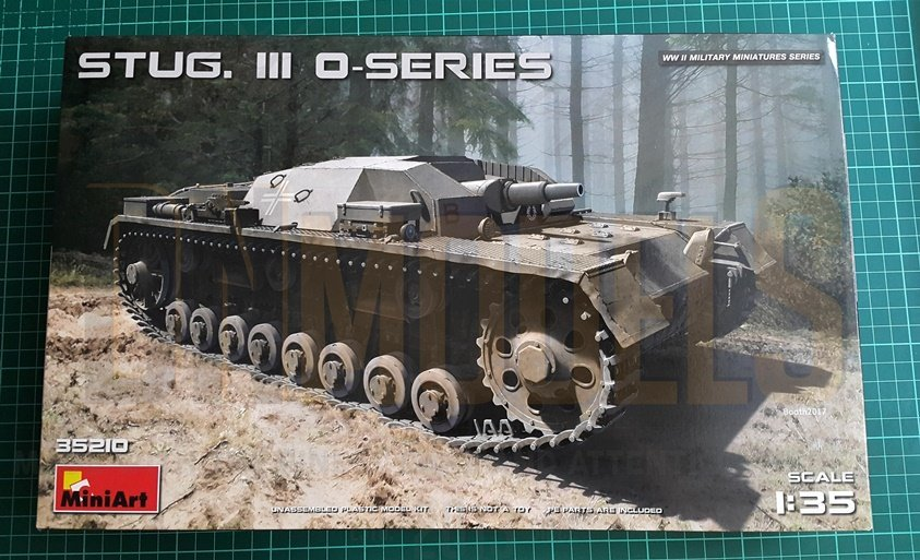 StuG III 0-series Miniart 35210 Unboxing Review DN Models Masks for Scale Models Boxart