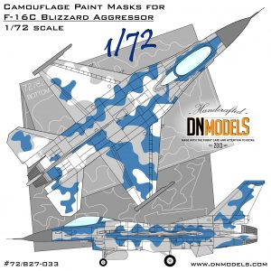 F-16C Blizzard Aggressor 1/72 dn models masks for scale models