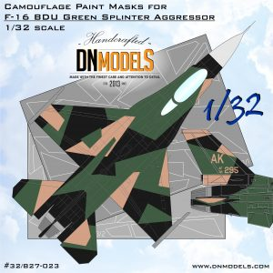 Camouflage Paint Masks for F-16C BDU Green Splinter Aggressor 1:32