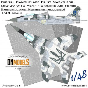 MiG-29 9-13 Fulcrum-C Ukrainian Digital Camo Paint Mask Set 1/48