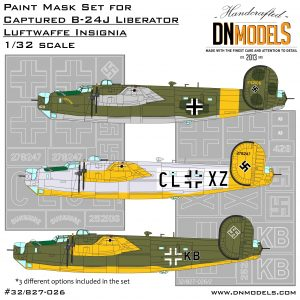 Captured B-24 Liberators Luftwaffe Insignia Paint Mask Set 1/32