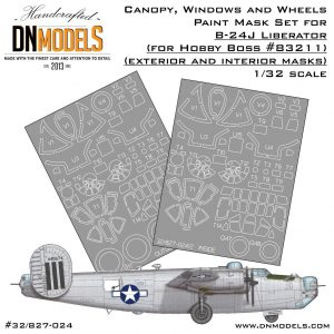 b-24j canopy windows wheels liberator hobby boss 83211 dn models masks for scale models