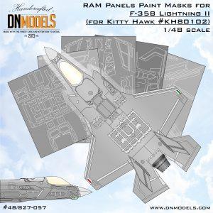 RAM Panels Paint Masks for F-35B Lightning II (for Kitty Hawk #KH80102) 1/48