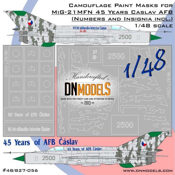 Cover MiG-21MFN 45 Years Caslav AFB Camo Masks 48nd scale (Site)