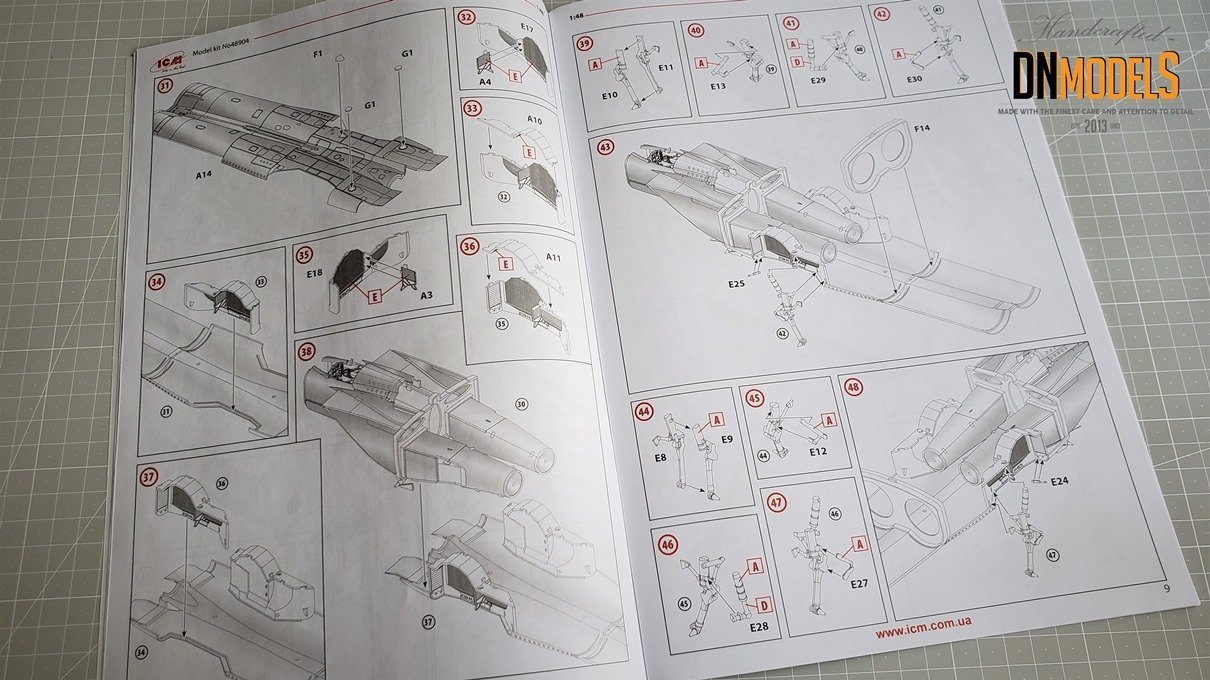 MiG-25RBF - ICM 1/48 - Unboxing & Review dn models masks for scale models