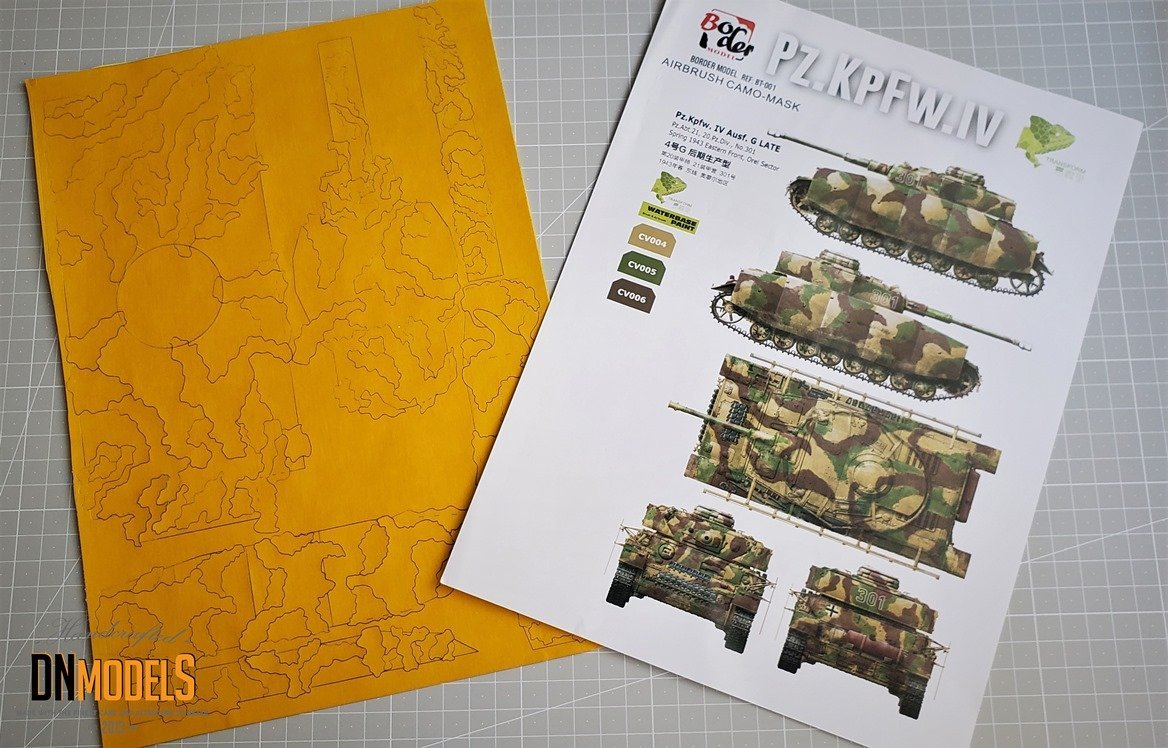 Border Model Sd.Kfz. 161 Pz.Kpfw. IV Ausf. G MidLate 2 in 1 135 review dn models masks for scale models
