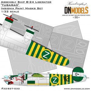 "Assembly Ship B-24 Liberator ""Tubarao"" Insignia Paint Mask Set 1/32"
