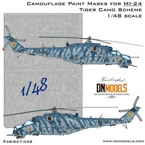Mi-24 Hind Tiger Camouflage paint mask set 1/48 dn models masks for scale models