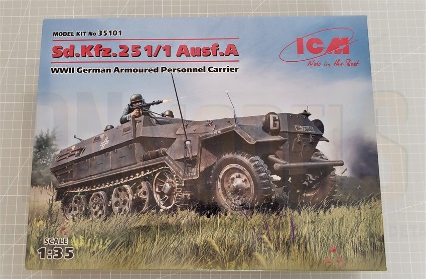 Sd.Kfz. 2511 Ausf.A Hanomag Halftrack 135 by ICM dn models masks for scale models