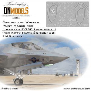 F-35C Canopy, Wheels & EOTS Paint Mask Set for Kitty Hawk Lightning II 1/48 dn models masks for scale models