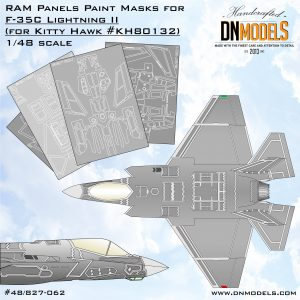 RAM Panels Paint Masks for US NAVY F-35C Lightning II 1/48 by Kitty Hawk dn models masks for scale models