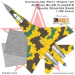 Cover Su-35 Flanker-E Yellow Splinter Camo 48th (Site)