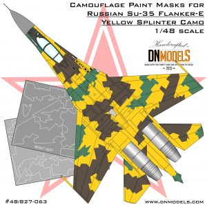 Su-35 Flanker-E Splinter Camouflage Paint Masks 1/48 dn models masks for scale models
