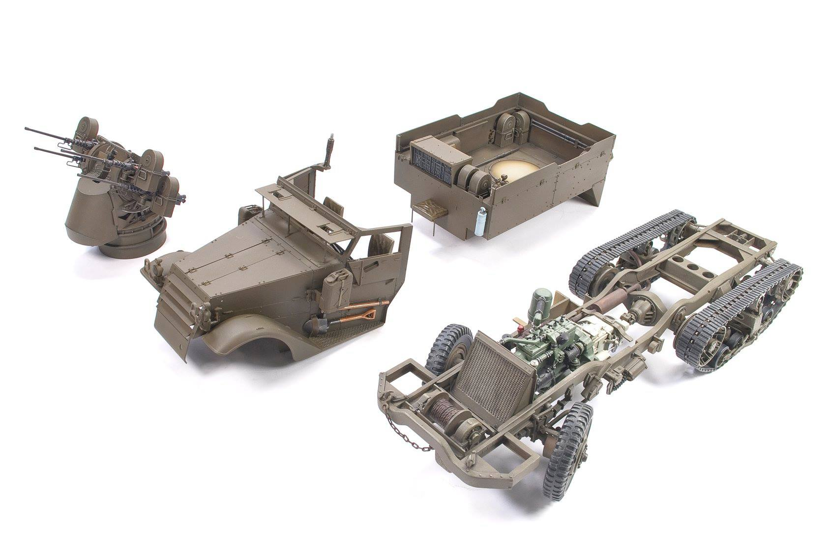 M16 Half-Track from AFV Club in 35th scale dn models masks for scale models