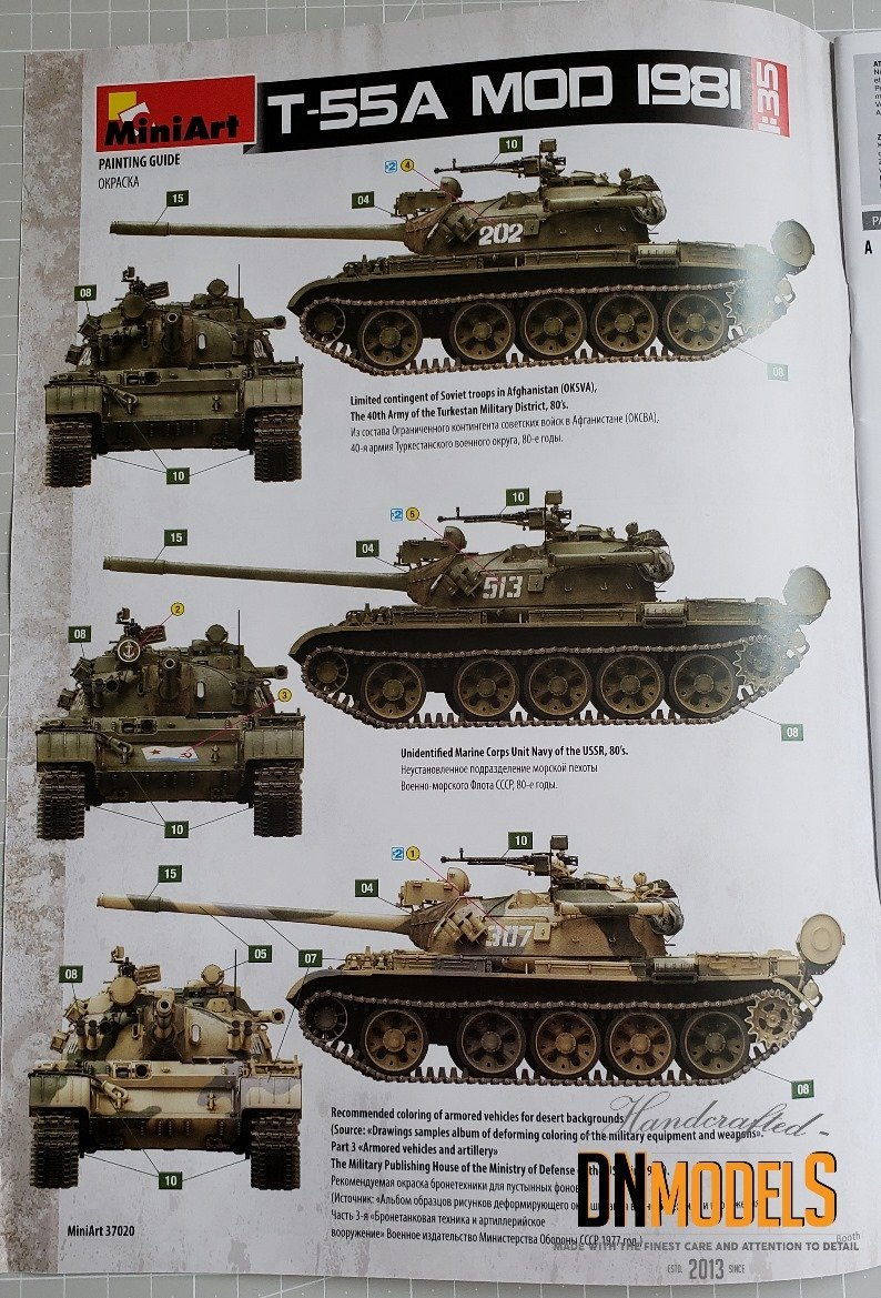 T55A MiniArt 1981 review unboxing dn models masks for scale models variants