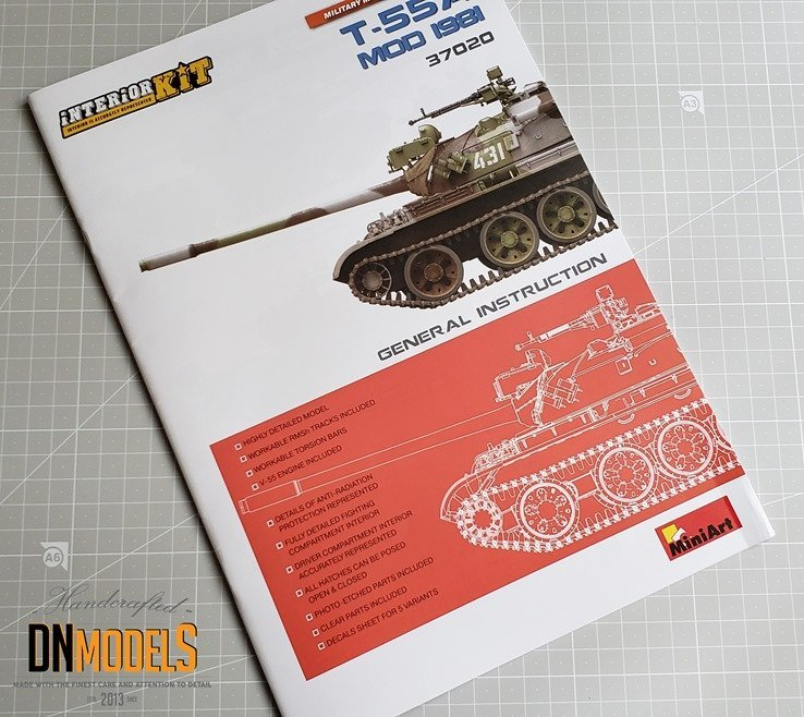 T55A MiniArt 1981 review unboxing dn models masks for scale models