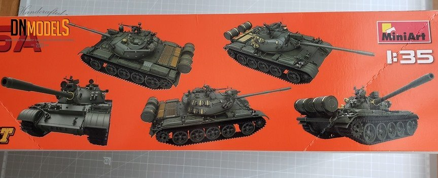 T55A MiniArt 1981 review unboxing dn models masks for scale models boxart