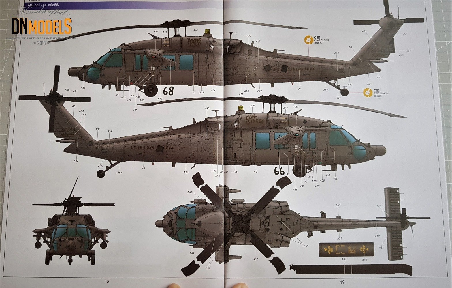 Black Hawk Kitty Hawk MH60L 135 Review DN Models Masks for Scale Models