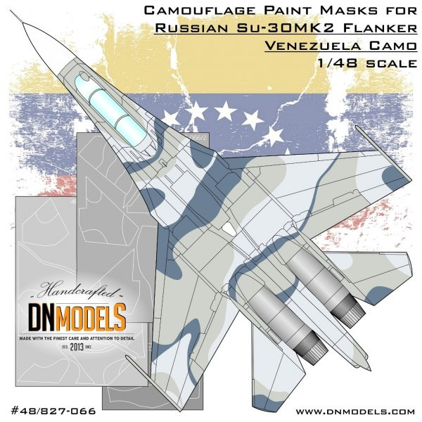 Camouflage Paint Masks for Su-30MK2 Venezuela Flanker 1/48 by dn models masks for scale models