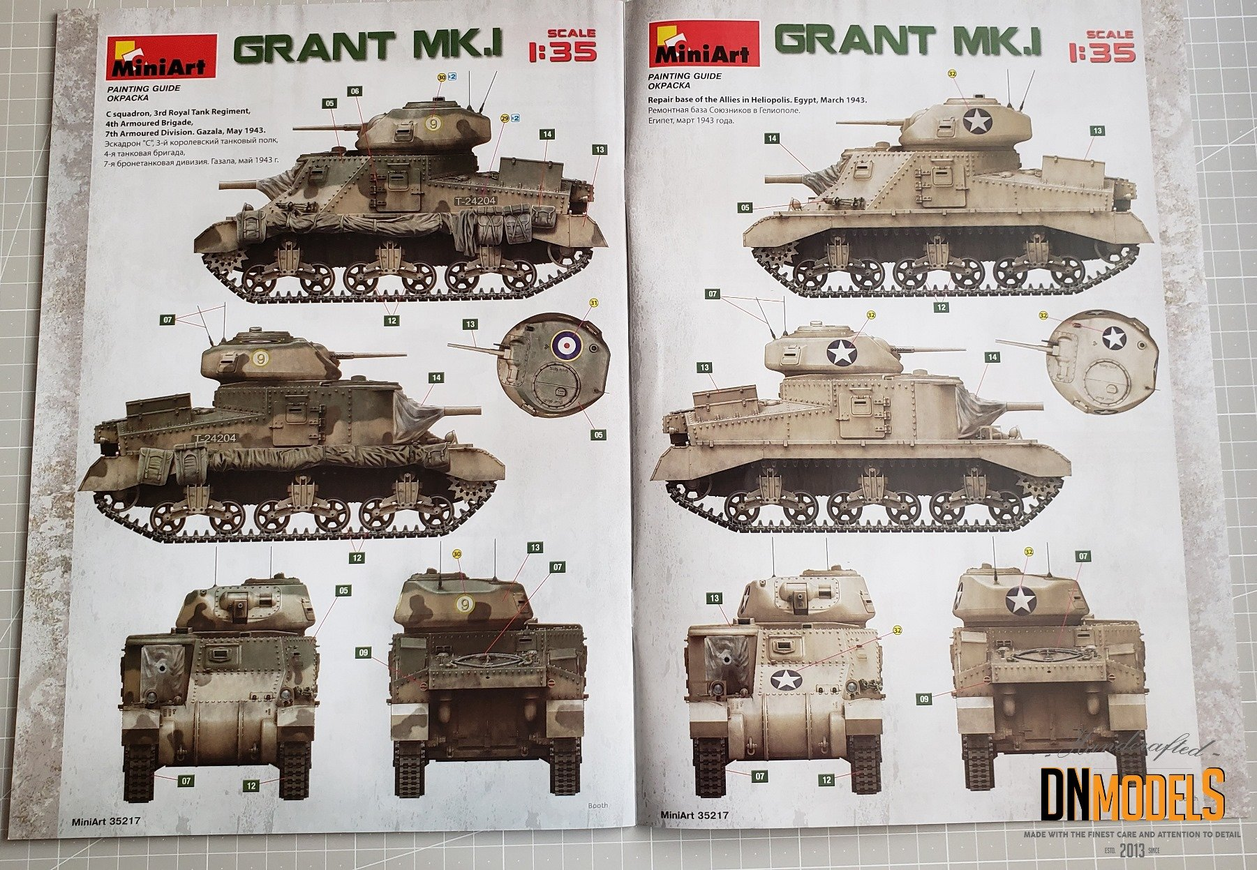 Grant Mk.I MiniArt #35217 Review DN Models Masks for Scale Models