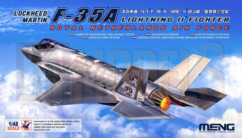 F-35A Meng Model LS-011 RAM Panels DN Models Masks for Scale Models