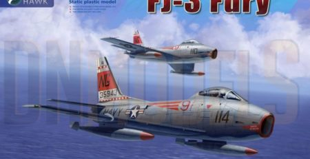 FJ-3 Fury Kitty Hawk 1/48 New Tool 2020 DN Models Masks for Scale Models