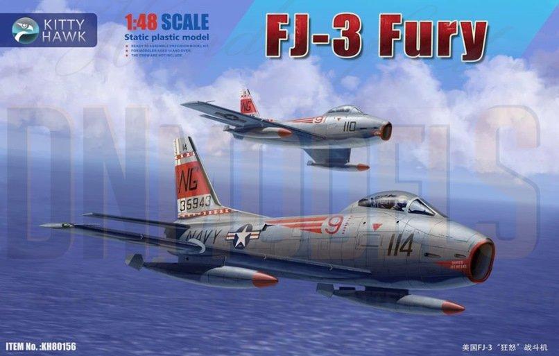 FJ-3 Fury Kitty Hawk 1/48 New Tool 2020 DN Models Masks for Scale Models