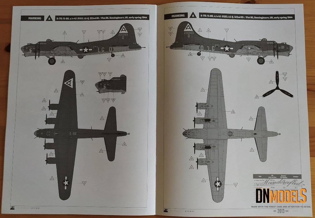 boeing b-17 flying fortress early hkm dn models masks for scale models