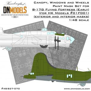 b-17g canopy wheels windows hk models dn models masks for scale models flying fortress early