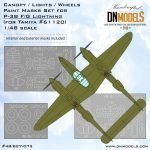 Cover P-38 FG Lightninhg Canopy (Tamiya 61120) (Interior + Exterior) 48th scale (site)