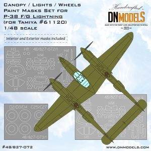 p-38 lightning canopy wheels lights paint masks set dn models masks for scale models 1/48