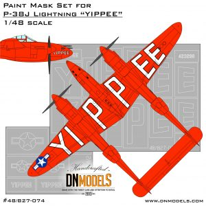 Yippee p-38 lightning insignia 5000th anniversary dn models masks for scale models