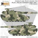 Cover PL-01 Polish Concept Tank Camo ver.1 35th scale (Site)