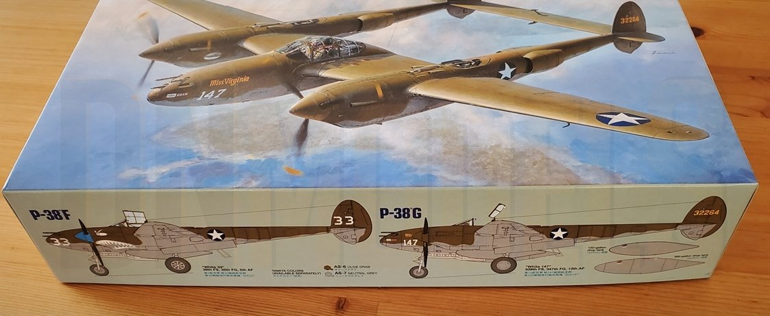 Tamiya P-38 Lightning #61120 review unboxing DN Models masks for scale models box