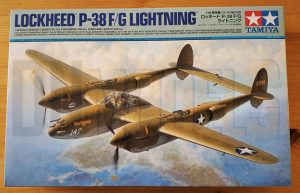 Tamiya P-38 Lightning #61120 review unboxing DN Models masks for scale models boxart