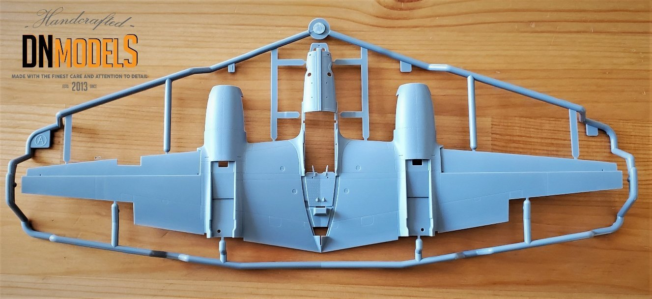 Tamiya P-38 Lightning #61120 review unboxing DN Models masks for scale models wings