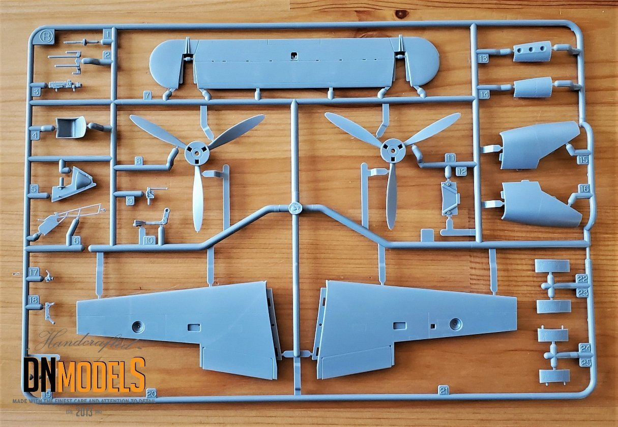Tamiya P-38 Lightning #61120 review unboxing DN Models masks for scale models propellers