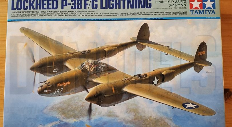 Tamiya P-38 Lightning #61120 review unboxing DN Models masks for scale models boxart