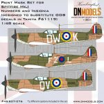 Cover Spitfire Mk.I Insignia OOB (Tamiya 61119 – 3 options) 48th scale (Site)