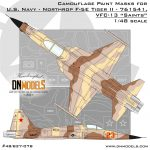 Cover F-5F Tiger II – 761541, VFC-13 Saints, NAS Fallon, Nevada, US 48th scale (Site)