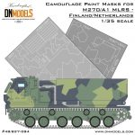 Cover MLRS M270A1 Finland Netherlands Camo 35th scale (Site)