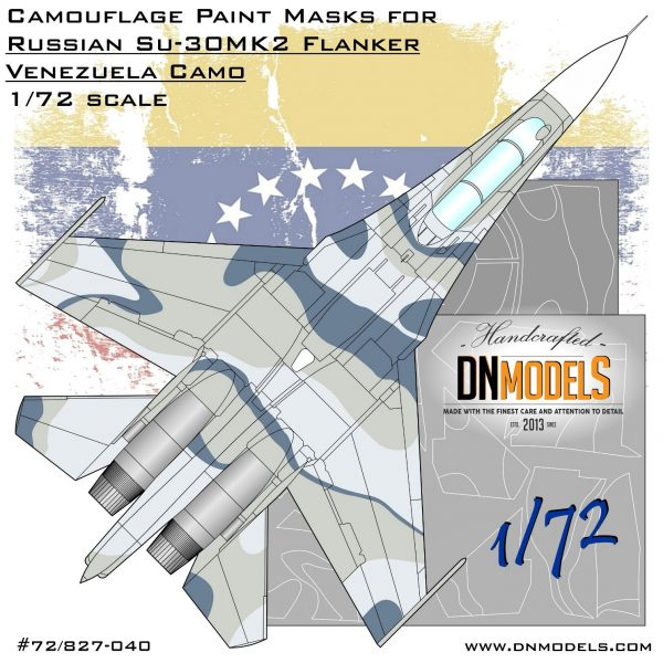 Camouflage Paint masks set for Su-30MK2 Venezuela Flanker 1/72 dn models masks for scale models