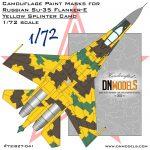 Cover Su-35 Flanker-E Yellow Splinter Camo 72nd (Site)
