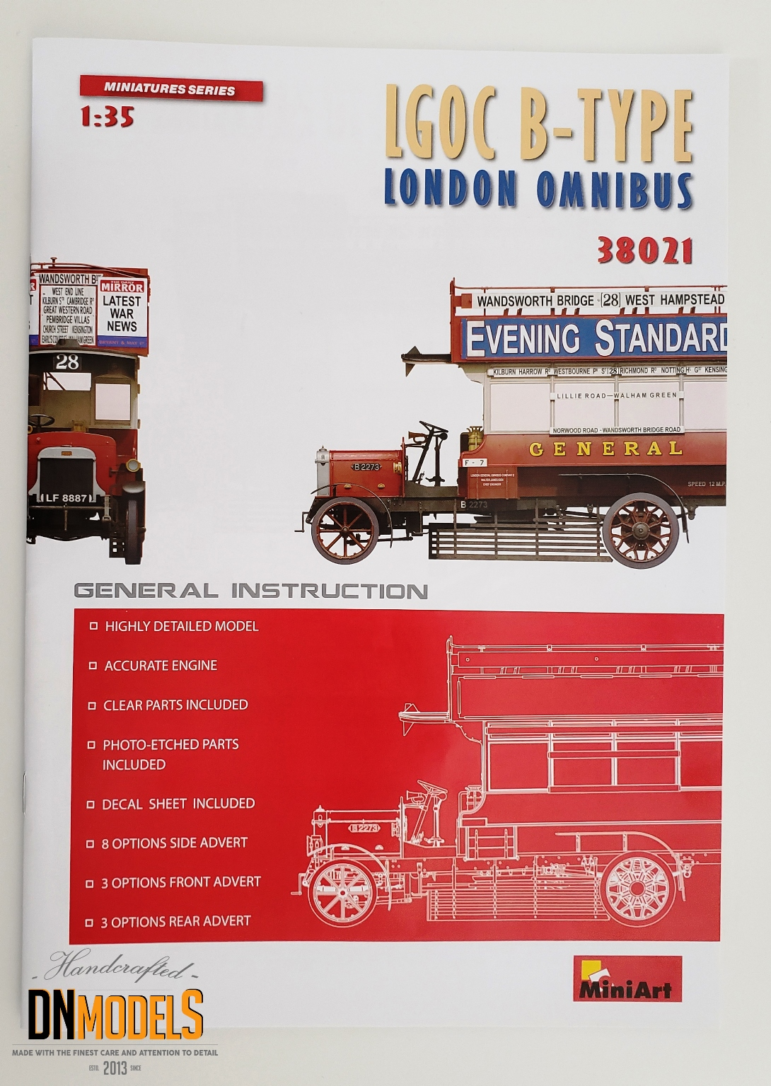 London Omnibus MiniArt 38021 dn models masks for scale models