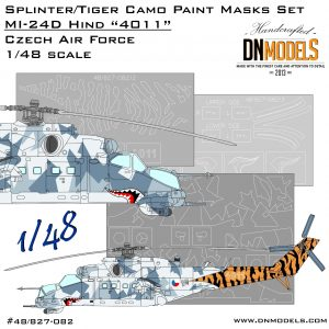 "Splinter/Tiger Camo Mi-24 Hind ""4011"" Czech Air Force Paint Mask Set 1/48"